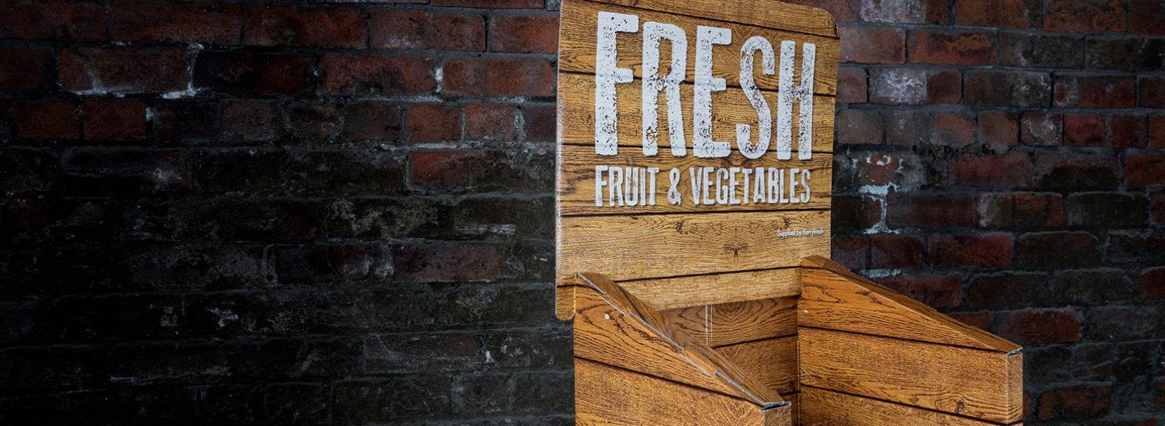 Fresh Fruit & Veg Card Stand