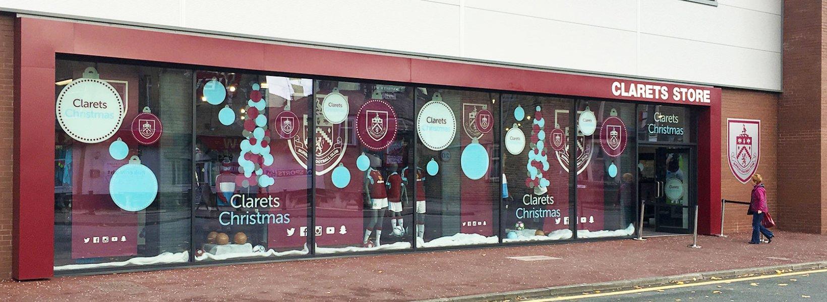 Burnley Football Club Outside Shop
